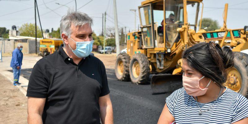 Campo De La Ribera: Nuevo Pavimento En Calle Martín Cartechini