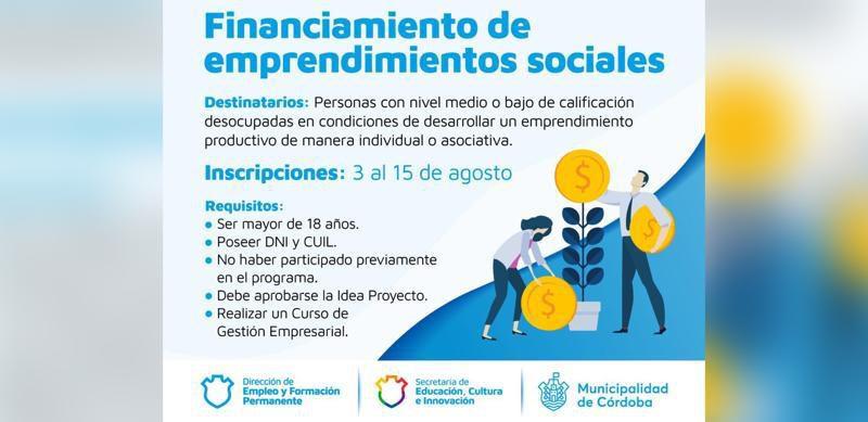 """Está Abierta La Convocatoria Para """"Financiamiento De Emprendimientos Sociales"""""""