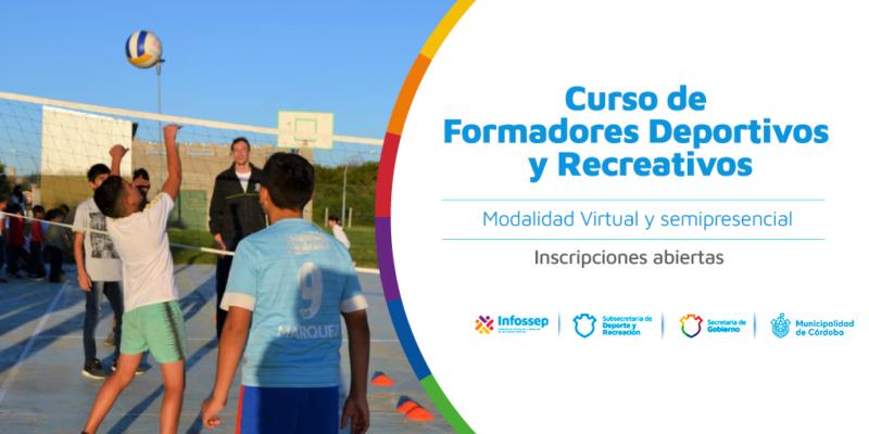 Inscripciones Abiertas Para El Curso De Formadores Deportivos Y Recreativos