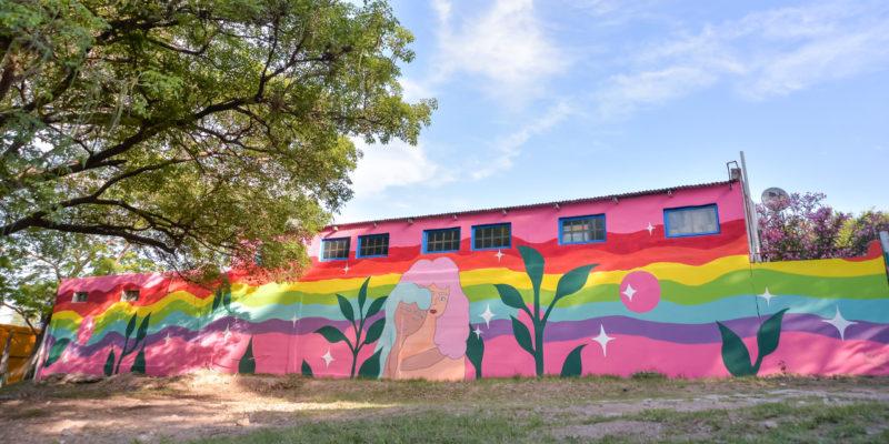 Un Nuevo Mural Decora La Base Del COyS En El Parque Sarmiento