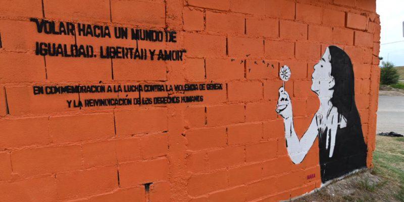 Barrio Los Olmos: Un Mural De 30 Metros Contra La Violencia De Género