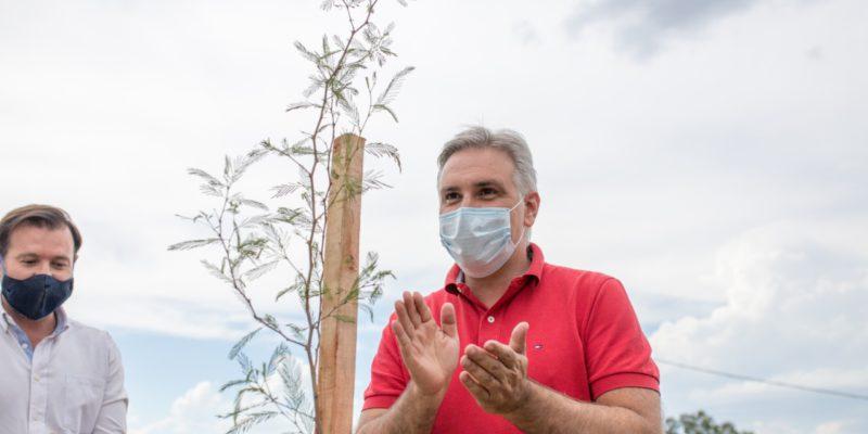 Plan De Forestación Urbana: Llaryora Plantó El árbol Número 10.000