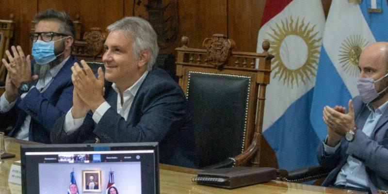 Schiaretti Y Llaryora Inauguraron Obras En Comunidad Renó