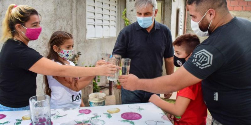 86 Familias De La Ex Cooperativa Camoatí Ya Disfrutan Del Agua Potable
