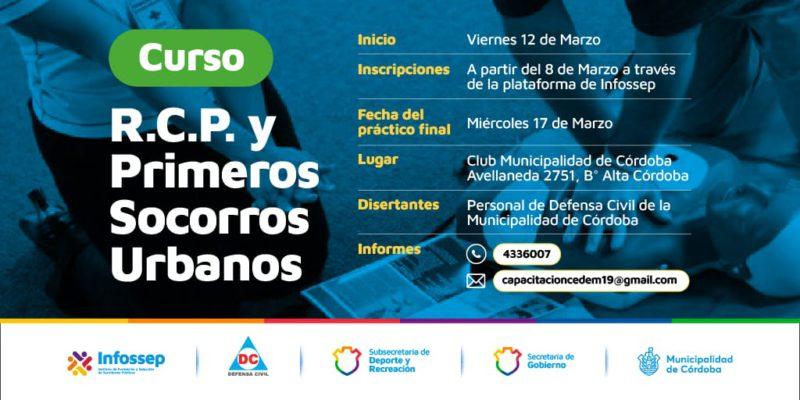 La Municipalidad De Córdoba Dictará Cursos De RCP Y Primeros Socorros Urbanos