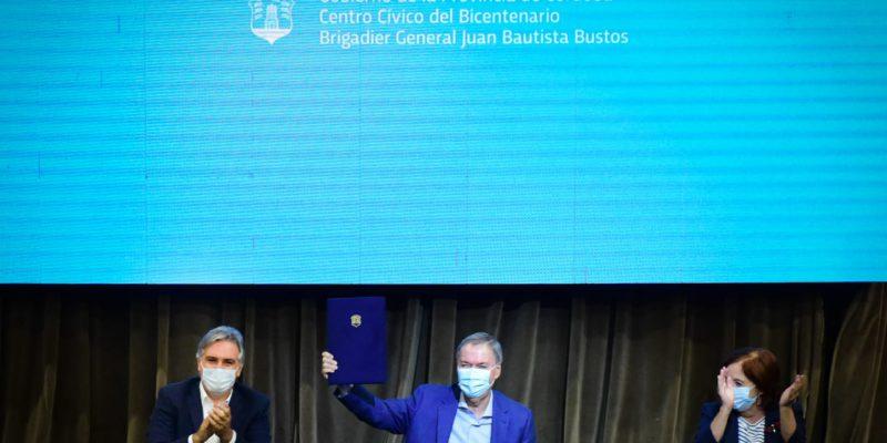 Schiaretti Y Llaryora Anunciaron La Pavimentación De Camino A Chacra De La Merced