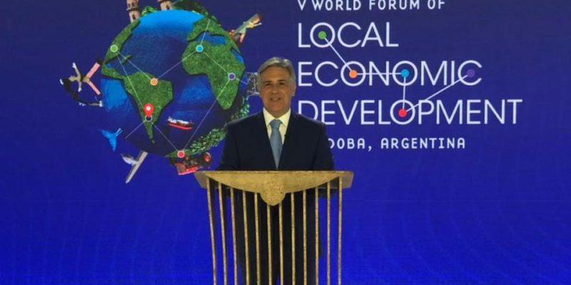 Llaryora Participó De La Presentación Del V Foro Mundial De Desarrollo Económico Local