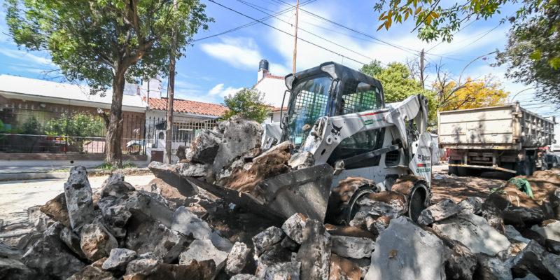 En Alto Alberdi Avanza La Repavimentación De 650 Metros De Calle Almirante Brown