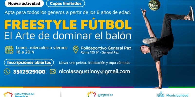 El Polideportivo Municipal General Paz Incorpora Clases De Freestyle Fútbol