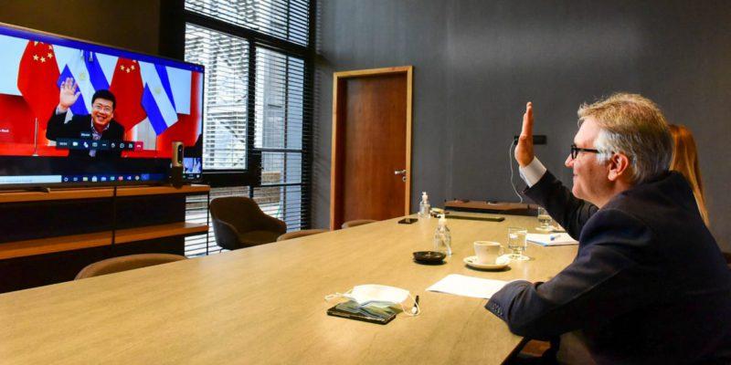 LLaryora Se Reunió Virtualmente Con El Embajador Chino En Argentina