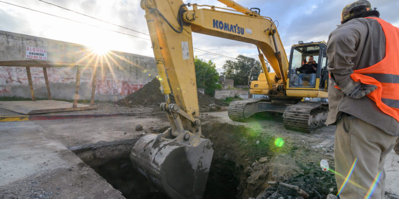Avanza La Construcción Del Aliviador Cloacal De Barrio Juniors Y Bajo General Paz