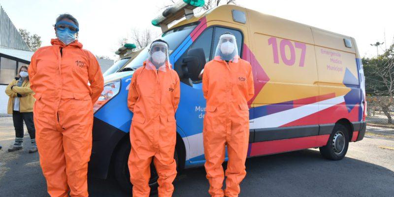 El 107 Incorporó A Su Primera Mujer Chofer De Ambulancia