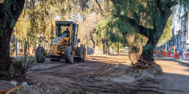 Parque Las Heras: Avanza El Ensanchamiento Del Bulevar