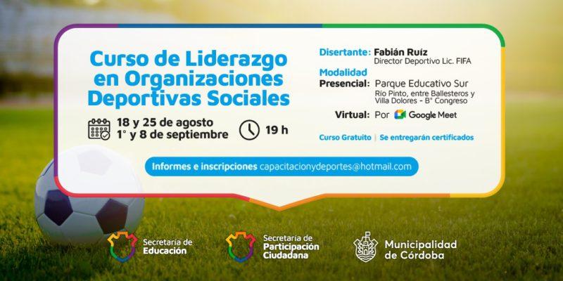 Parque Educativo Sur: Abren Inscripciones Al Curso De Liderazgo En Organizaciones Deportivas Sociales