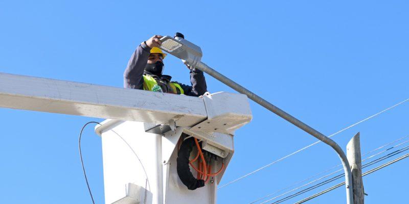 La Municipalidad Iluminó Barrio Smata Con Tecnología LED