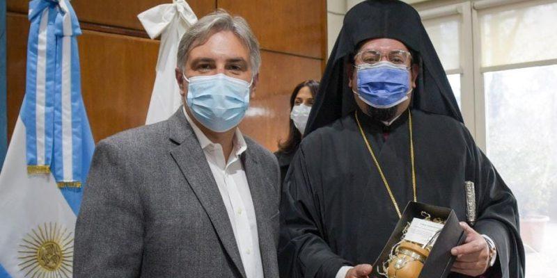 Llaryora Recibió Al Arzobispo Metropolitano De La Iglesia Ortodoxa
