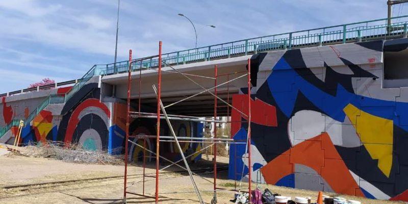 El Puente Vélez Sársfield Ilumina La Avenida Cruz Roja Con Un Impactante Mural Artístico