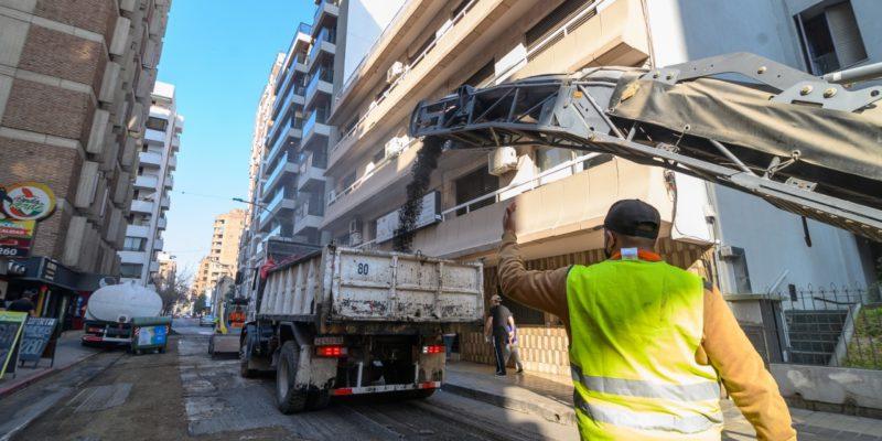 Alberdi: Repavimentan 800 Metros De La Calle Justo José De Urquiza