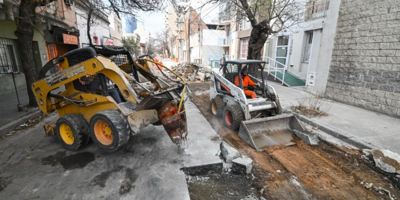 Córdoba: Con un 70% de avance, continúa la rehabilitación de la calle Martín García