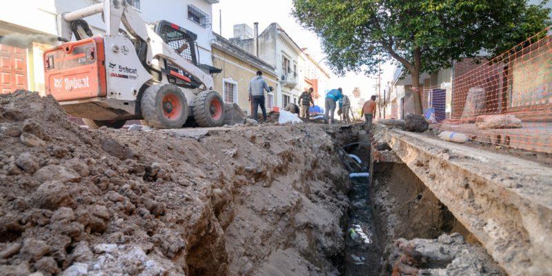 Construyen Un Nuevo Aliviador Cloacal En El Barrio Alberdi