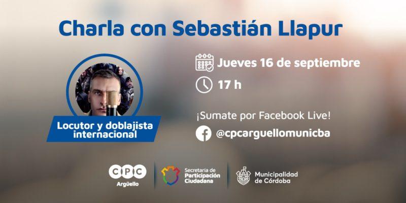 Charla Con El Doblajista Internacional Sebastián Llapur